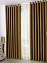 Deux Panneaux Le traitement de fenêtre Rustique Néoclassique Européen Moderne , Solide Chambre à coucher Polyester MatérielRideaux