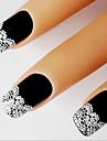 1 Sticker Manucure  Guide Conseils français Autocollant dentelle Autocollants 3D pour ongles Abstrait Maquillage cosmétiqueManucure