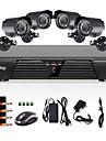 Liview® övervakningskamera med rörelsedetektor och mörkerseende, fyra kanaler, H.264, 600TVL, vattentät