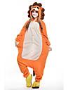 kigurumi Pyjamas New Cosplay® / Lion Collant/Combinaison Fête / Célébration Pyjamas Animale Halloween Orange Mosaïque Polaire Kigurumi