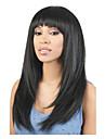 lång längd rakt hår europeisk väva svart hårfärg syntetisk peruk