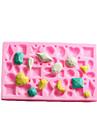 Mini Gem forme de gâteau fondant moule en silicone de chocolat, petit gâteau des outils de décoration, l12cm * * w7.5cm h1cm