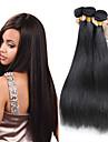 3st 6a malaysiska jungfru håret rakt naturligt svart människohår väva buntar