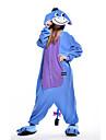 kigurumi Pyjamas New Cosplay® / Âne Collant/Combinaison Fête / Célébration Pyjamas Animale Halloween Bleu Mosaïque Polaire Kigurumi Pour