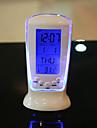 vente créative horloge cadeau horloge électronique lumineuse pièce de musique table de température d'affichage calendrier d'horloge
