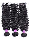 3pcs / lot des produits capillaires de protea non transformés péruvien cheveux vierges profonde vague cheveux 100% péruvien profonde vague