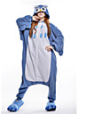 kigurumi Pyjamas New Cosplay® / Chouette Collant/Combinaison Fête / Célébration Pyjamas Animale Halloween Bleu Mosaïque Polaire Kigurumi