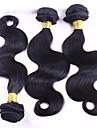 """3 st mycket 8 """"-30"""" peruanska kroppen våg jungfru hårwefts naturligt svart 1b # människa hårväv buntar härva gratis"""