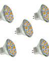 5W GU4(MR11) Spot LED MR11 12 SMD 5730 560 lm Blanc Chaud / Blanc Froid Décorative DC 12 V 5 pièces
