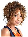 mellersta längd lockigt hår europeiska väva ljus blandade hår peruk