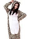 kigurumi Pyjamas Léopard Collant/Combinaison Fête / Célébration Pyjamas Animale Halloween Blanc Mosaïque Flanelle Kigurumi Pour Unisexe