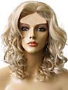 kort längd lockigt hår europeisk väva ljus blont hår peruk