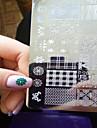 1st nya nagel konst stämpling plattor diy bild mallar verktyg spik skönhet xy-j11-16