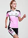 MYSENLAN® Maillot et Cuissard de Cyclisme Femme Manches courtes VéloRespirable / Séchage rapide / Résistant aux ultraviolets /