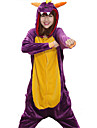 kigurumi Pyjamas Dragon Collant/Combinaison Fête / Célébration Pyjamas Animale Halloween Violet Mosaïque Toison de Corral Kigurumi Pour