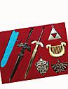 Plus d'accessoires Inspiré par The Legend of Zelda Cosplay Anime/Jeux Vidéo Accessoires de Cosplay Porte-clés Argenté Alliage Masculin