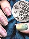 2016 dernier modèle de la mode version nail art plaques de modèle d'image estampage