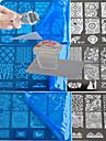 10pcs dentelle estampage plaque polish modèle de transfert de nail art et 1 carré transparent timbre bc1-10