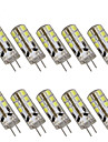 3W G4 LED à Double Broches T 24 SMD 2835 280 lm Blanc Chaud Blanc Froid Décorative DC 12 V 10 pièces