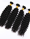 Human Hår vävar Peruanskt hår Vågigt 4 delar hår väver