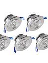 6W Lampes Encastrées LED Haute Puissance 500-550 lm Blanc Chaud Blanc Froid Gradable AC 100-240 AC 110-130 V 5 pièces
