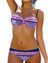 Dame Nailon Spandex Push-up Sutiene cu Bureți Sutiene cu Întăritură Cu Susținere,Bikini Floral Imprimeu