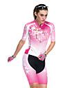 SANTIC® Cykeltröja med shorts Dam Kort ärm Cykel Andningsfunktion Snabb tork Byxa Tröja Cykeltröja + shorts Klädesset/KostymerPolyester