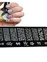 1st nya nagel konst stämpling plattor diy bild mallar verktyg spik skönhet xy-j06-10