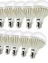 5W E26/E27 LED-globlampor B 9 SMD 5630 450 lm Varmvit Dekorativ AC 220-240 V 10 st