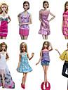 Prințesă Costume Pentru Barbie Doll Rochii Fuste Topuri Pantaloni Pentru Fata lui păpușă de jucărie