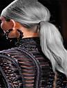 3pcs / lot Vente en gros ombre brésilienne de cheveux gris tissage 1b / gris deux extensions de cheveux droites argent de ton vierges