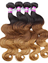 A Ombre Cheveux Malaisiens Ondulation naturelle 12 mois 4 Pièces tissages de cheveux