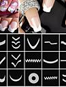 18 feuilles / set manucure française ongles diy conseils d'art guides bande autocollants pochoir