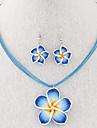 Seturi de bijuterii Cercei Picătură Coliere cu Pandativ Colier / cercei La modă Elegant Aliaj Bijuterii Mov Trandafiriu Rosu Albastru Roz