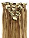 20 tum 7st 70g klipp i mänsklig hårförlängning rakt många färger