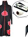 Inspiré par Naruto Itachi Uchiha Anime Costumes de cosplay Costumes Cosplay / Plus d'accessoires Imprimé Noir Cape / Plus d'accessoires