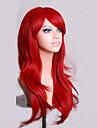 mode färg tecknad färgade peruker speciella maskerad 70 cm röd peruk