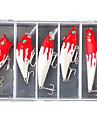 5 st Hårt bete Spigg Veva Penn Popper Lock förpackningar Fiskbete Veva Popper Vibration Blyertspenna Spigg Hårt bete Lock förpackningar