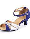 latin kvinnors sandaler cuban heel mocka dansskor (fler färger)