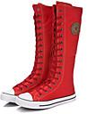 Damă Primăvară Vară Toamnă Iarnă Pantofi la Modă Pânză Outdoor Casual Atletic Toc Plat Fermoar Dantelă