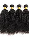 Human Hår vävar Brasilianskt hår Sexigt Lockigt 4 delar hår väver
