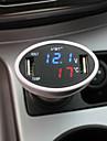 bleu 3in1 iztoss voiture cigarette et led rouge double chargeur usb de thermomètre voltmètre