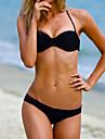 la modă push-up nailon și spandex culoare solida plajă sexy costume de baie bikini set femei