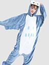 Kigurumi Pyjamas Uggla Leotard/Onesie Halloween Animal Sovplagg Vit / Blå Lappverk Flanell Kigurumi Unisex Halloween / Karnival