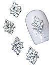 10pcs 3d strass clair fleur de diamant accessoires de bricolage alliage nail art décoration