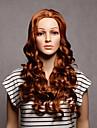 capless longue synthétique brun ondulées couleur womens synthétiques perruques