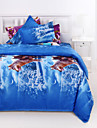 3D (modèle aléatoire) Ensembles housse de couette 4 Pièces Polyester 3D Imprimé Polyester Lit 2 Places1 pièces (1 housse de couette, 1