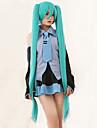 högkvalitativ vocaloid Hatsune miku 2 hästsvansar cosplay peruk