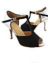 Chaussures de danse(Noir Bleu Rouge) -Personnalisables-Talon Personnalisé-Paillette Brillante-Latine Salon