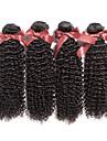 7a grade brasilianska jungfru hår kinky lockigt hår obearbetat människohår brasiliansk afro kinky lockigt 4 buntar / lot
